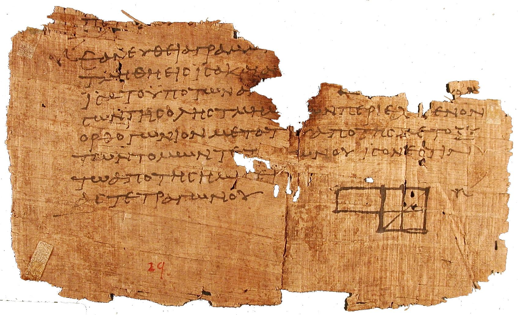 The oldest diagram from Euclid